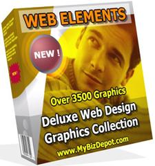 Product picture Web Elements Deluxe Web Design Graphics Collection - Over 3500 Graphics - *w/Resell Rights*
